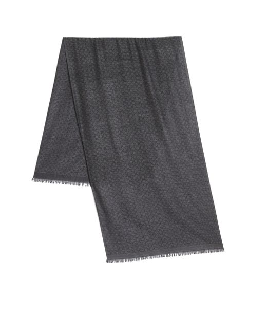 Ferragamo | Gray Gancini Scarf for Men | Lyst