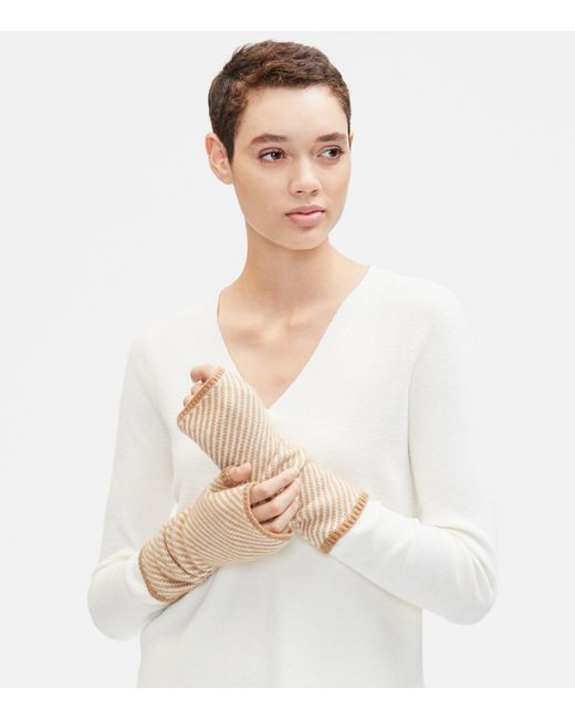 Eileen Fisher - Natural Lofty Recycled Cashmere Glovelettes - Lyst
