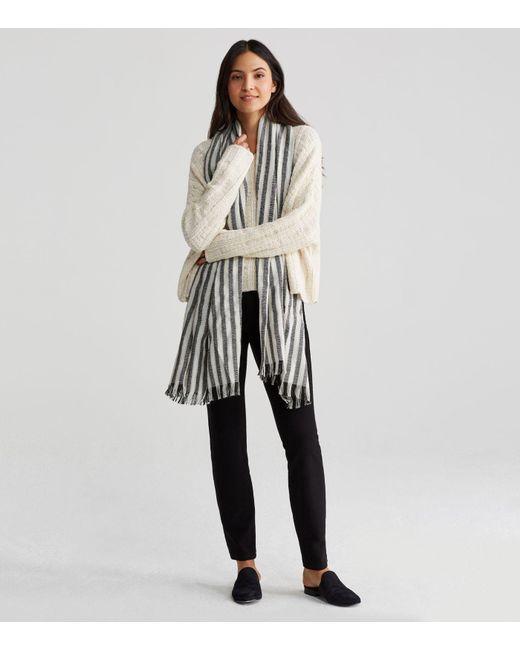 Eileen Fisher - Multicolor Handwoven Peruvian Organic Cotton Alpaca Stripe Scarf - Lyst