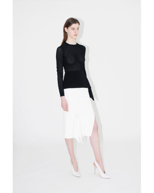 cf3ecae449 ... Roland Mouret - White Lucca Midi Skirt - Lyst ...