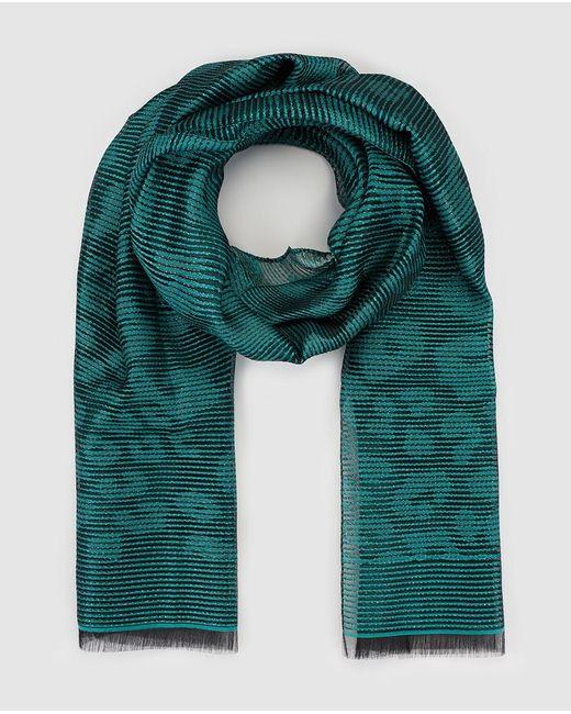 Armani | Green Jacquard Print Foulard | Lyst
