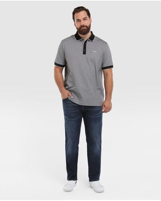 72c5ca808 ... BOSS - Gray Big And Tall Grey Short Sleeve Piqué Polo Shirt for Men -  Lyst