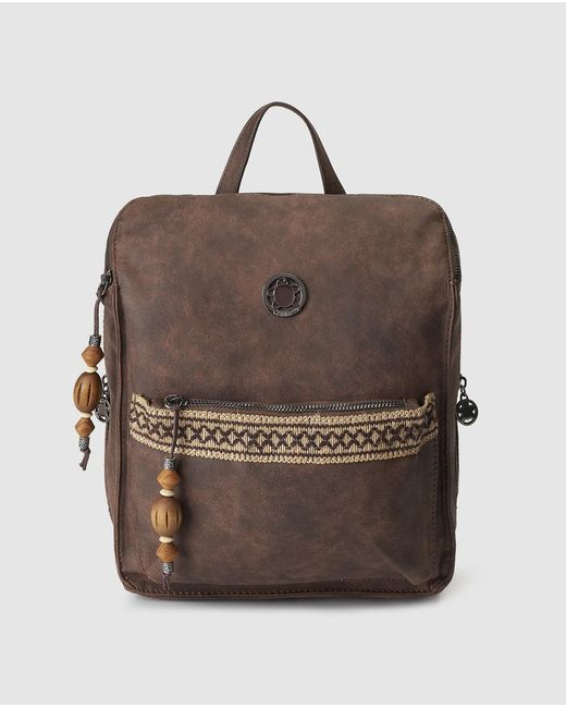 Caminatta - Brown Backpack With Jewelled Detail - Lyst