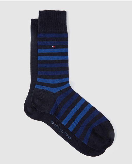 Tommy Hilfiger | Two-pack Of Short Blue Socks for Men | Lyst