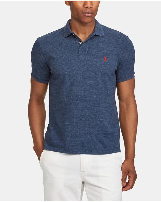 08dc51d6b74d Polo Ralph Lauren - Blue Short Sleeve Slim-fit Piqué Polo Shirt for Men ...