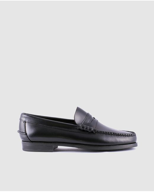 1901 - Black Greased Leather Loafers for Men - Lyst