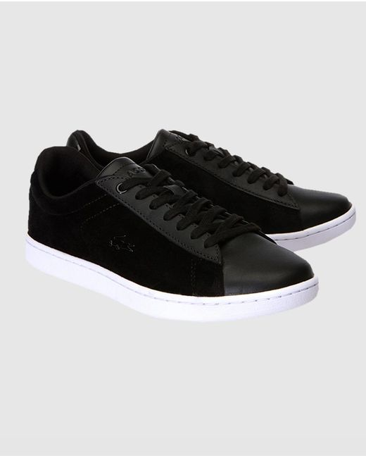 89a214133075f Lyst - Lacoste Black Trainers With Side Logo. Available Online Only ...