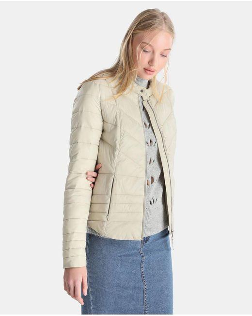 Vero Moda - Natural Short Lightweight Quilted Coat - Lyst