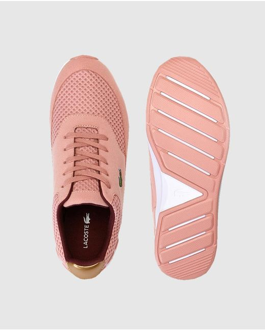 c4c6084c13c2a Lacoste Pink Trainers With Side Logo. Available Online Only. in Pink ...