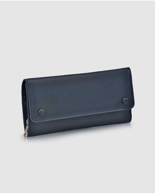 Gloria Ortiz   Nina Large Navy Blue Leather Wallet   Lyst