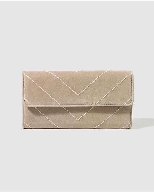 Gloria Ortiz | Natural Taupe Wallet With Space For 12 Cards | Lyst