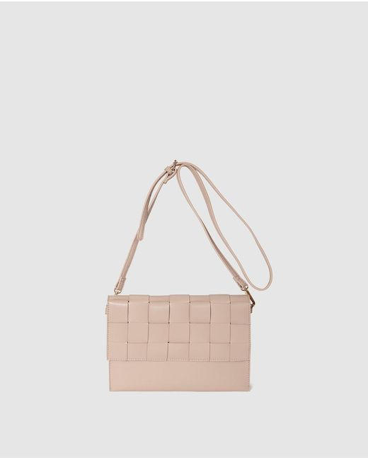 El Corte Inglés - Natural Wo Nude Crossbody Bag With Plaited Flap - Lyst
