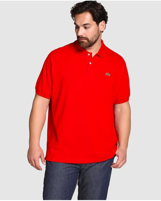 Lacoste - Big And Tall Red Short-sleeve Polo Shirt for Men - Lyst