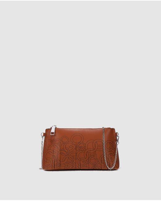 Gloria Ortiz - Brown Elke Camel-coloured Leather Crossbody Bag With Fringe - Lyst