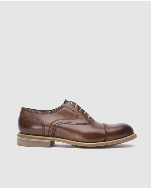 Lottusse - Brown Leather Smart Shoes for Men - Lyst