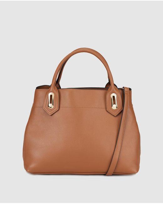 El Corte Inglés - Large Brown Handbag With Golden Hardware - Lyst