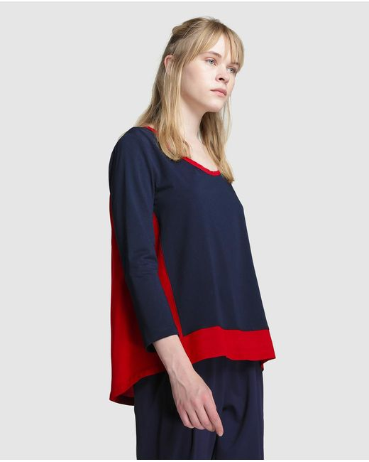 Tommy Hilfiger | Blue Combined Fabric T-shirt | Lyst