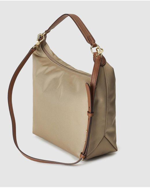 c8f026846026 ... Lauren by Ralph Lauren - Natural Medium Beige Nylon Hobo Bag - Lyst ...