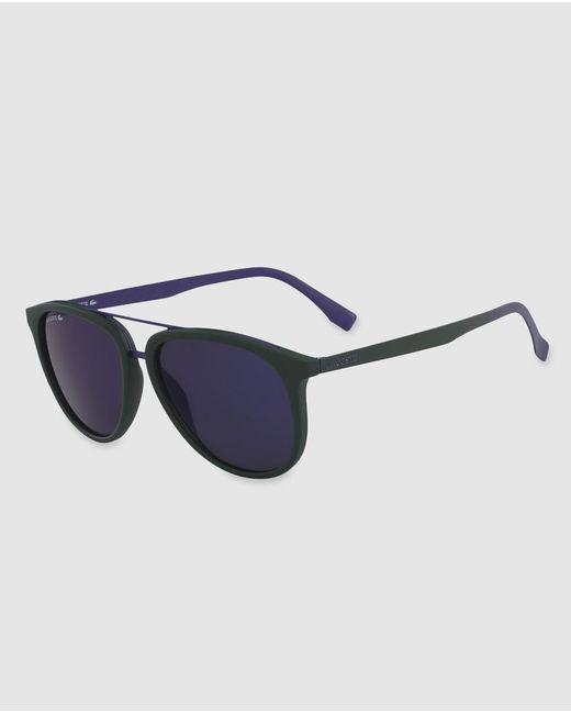 Lacoste - Unisex Black Combined Sunglasses With Double Bridge for Men - Lyst