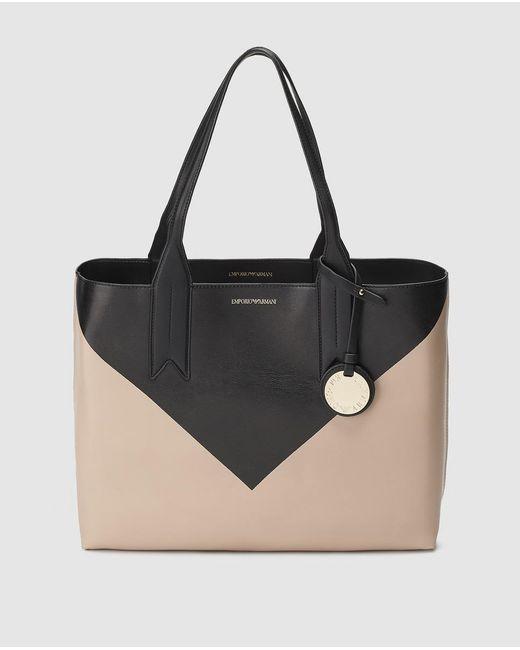 Emporio Armani - Black Reversible Bag - Lyst ... 957b3cd597