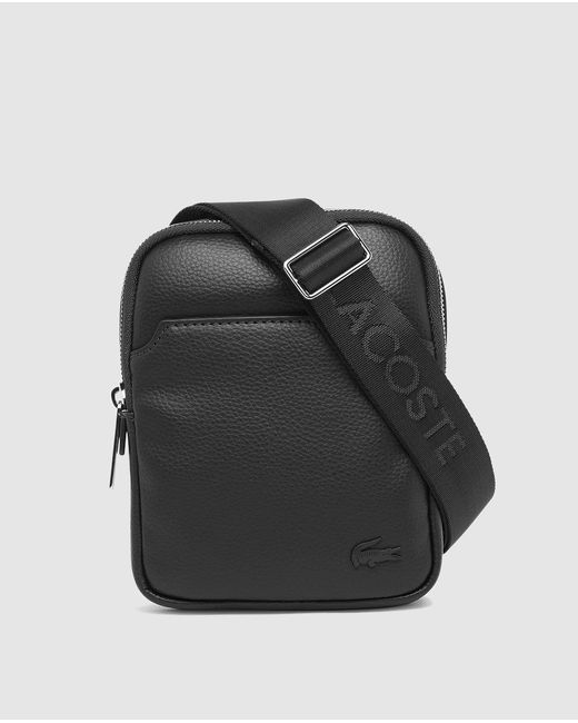 Lacoste | Medium Black Messenger Bag With Zip And Adjustable Strap for Men | Lyst