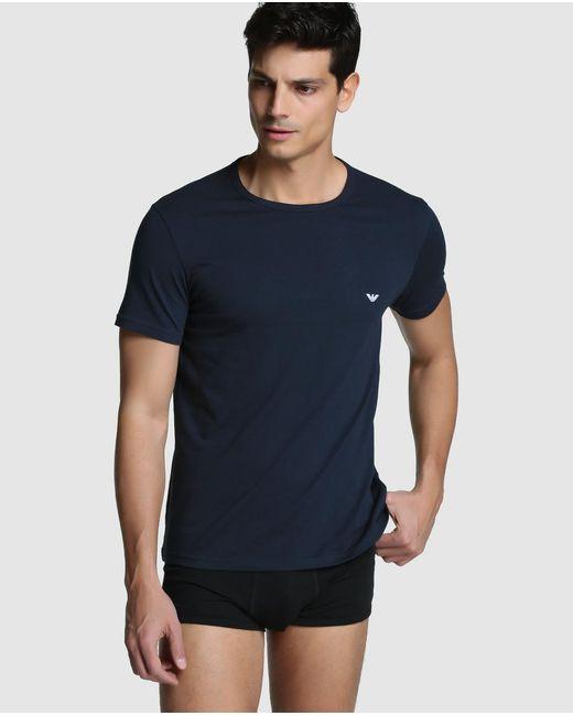 Emporio Armani - Blue 2-pack Of Short Sleeved Vests for Men - Lyst