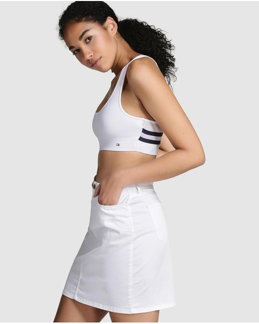Tommy Hilfiger | White Cropped T-shirt | Lyst