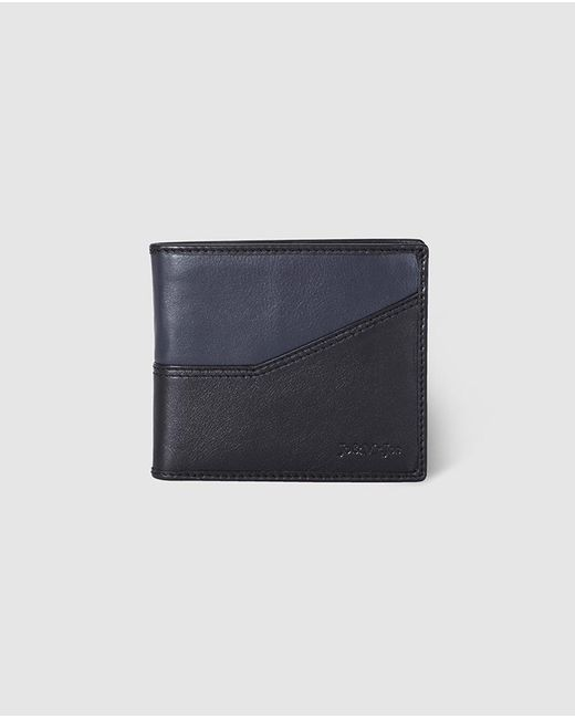 Jo & Mr. Joe - Mens Navy Blue And Black Wallet With Coin Pocket for Men - Lyst