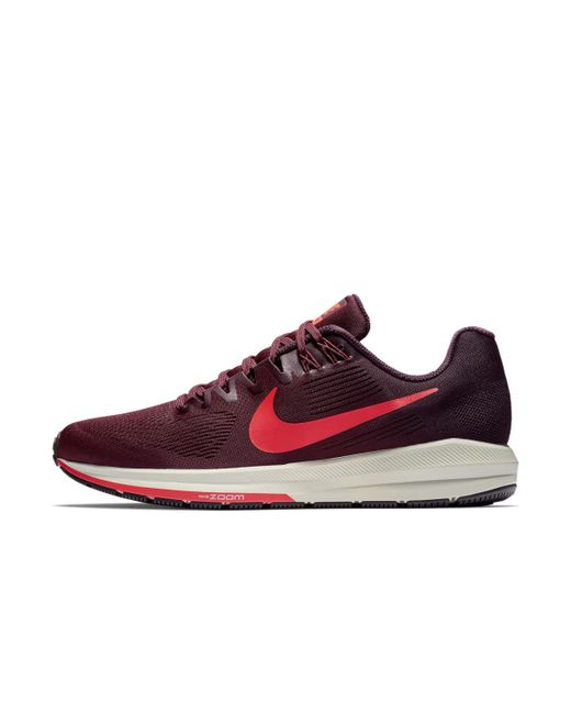 3f77a5f2456 ... Nike - Red Air Zoom Structure 21 Running Shoes for Men - Lyst ...