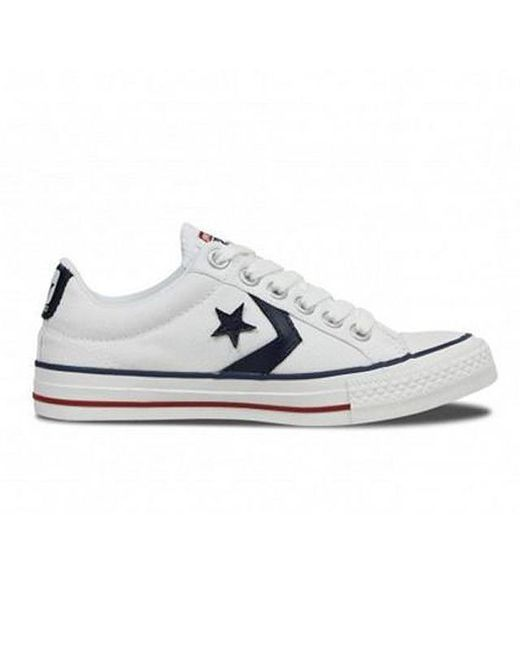c4e0270b6a0e Converse - White Star Player Low Canvas Unisex Casual Trainers for Men -  Lyst