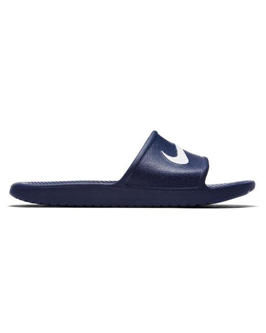 e8b887635374 spain lyst nike mens benassi solarsoft slide sandals from finish line bbca0  6699d  italy nike blue kawa swimming sandals for men lyst fd184 153c4