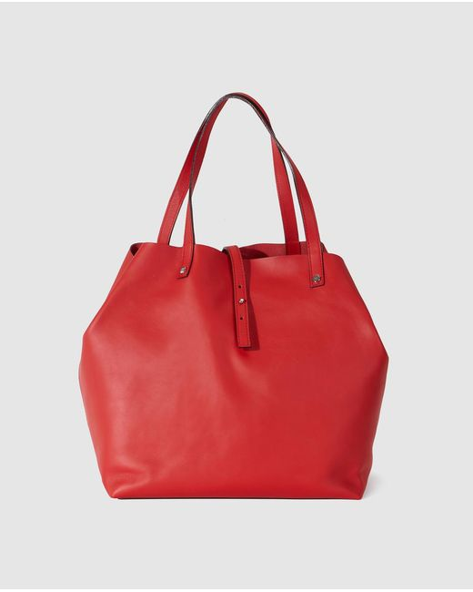 Gloria Ortiz - Sofia Red Leather Shopper Bag - Lyst