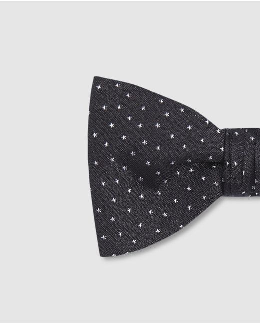 90e36470f1ec BOSS Black Printed Silk Bow Tie in Black for Men - Lyst
