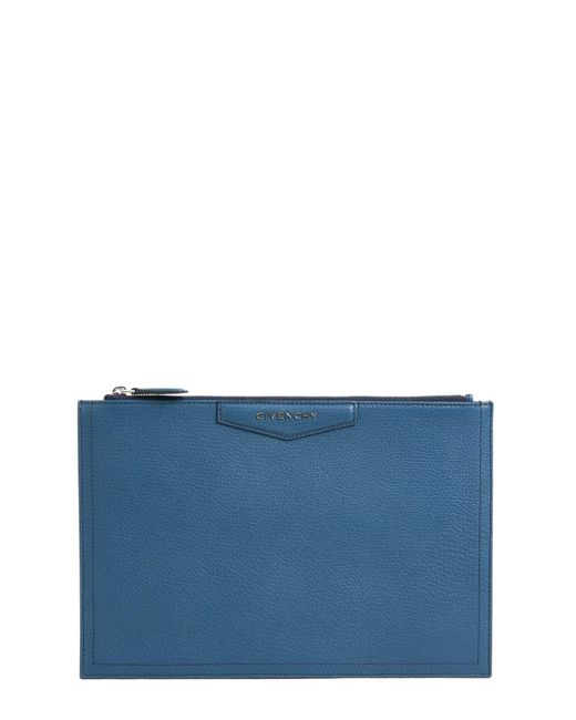 Givenchy - Blue Antigona Large Leather Clutch - Lyst
