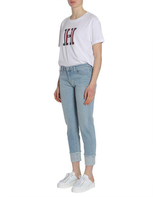 J Brand - Blue Mid-rise Straight Leg Sadey Jeans - Lyst