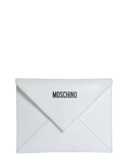 "Moschino - White Busta ""bravo"" Con Lettering Logo - Lyst"