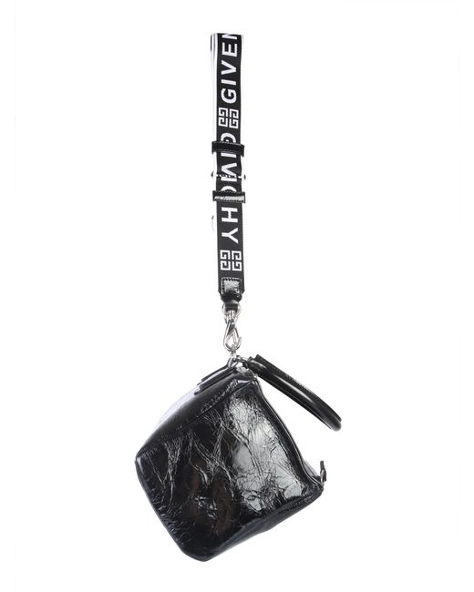 c37ab43f5a9 ... Givenchy - Black Small Pandora Bag In Hammered Leather - Lyst ...