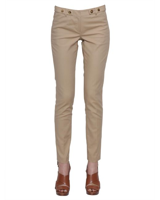 MICHAEL Michael Kors | Natural Stretch Cotton Trousers | Lyst