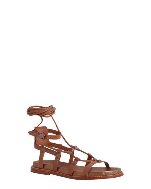 Ash | Brown Magnun Leather Sandal | Lyst