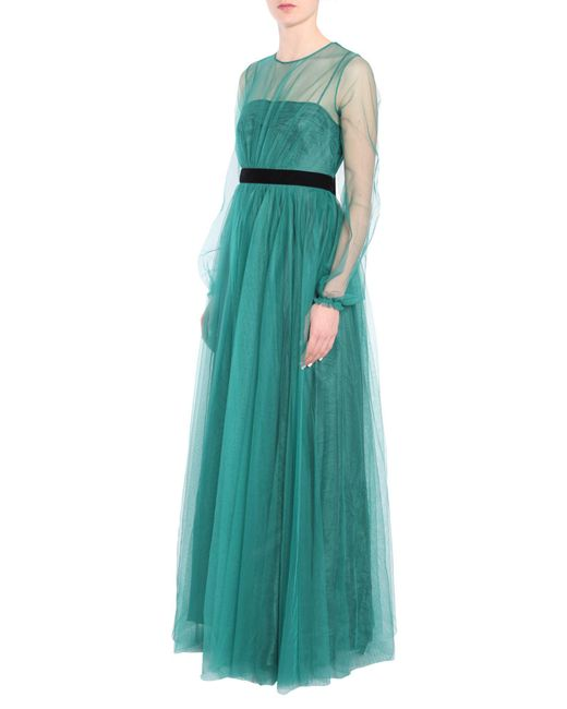 N°21 - Green Net Maxi Dress - Lyst