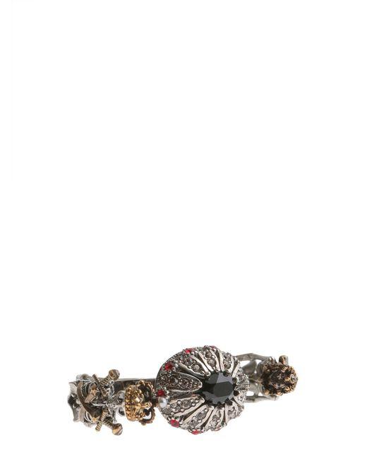 Alexander McQueen | Metallic Doppio Anello Skeleton In Ottone | Lyst