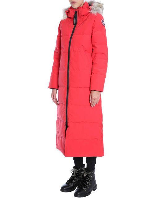canada goose red mystique parka