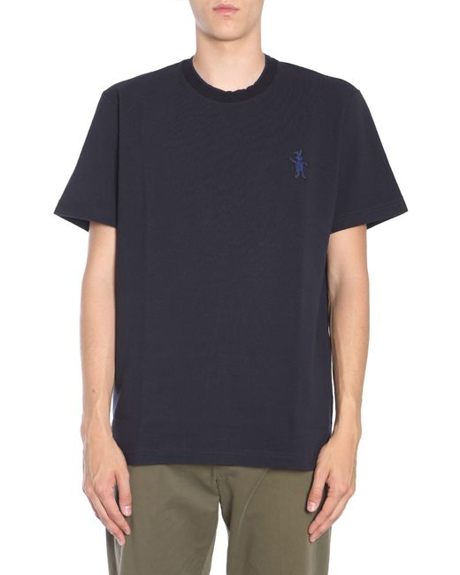 Marni - Blue Cotton Piqué T-shirt With Embroidered Bunny for Men - Lyst