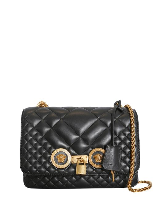 3bc6409a0503 Lyst - Versace Icon Shoulder Bag In Quilted Leather in Black - Save 12%