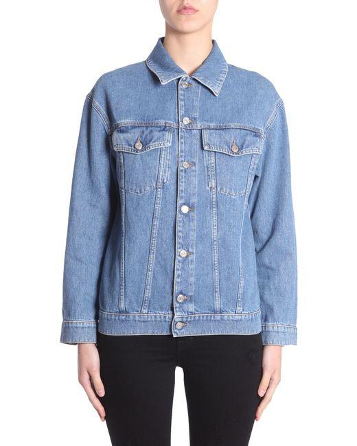Jeremy Scott - Blue Oversize Fit Denim Jacket - Lyst