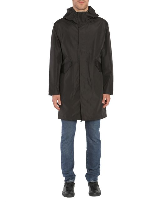PS by Paul Smith | Black Parka Con Cappuccio In Tessuto Tecnico Water-resistant for Men | Lyst
