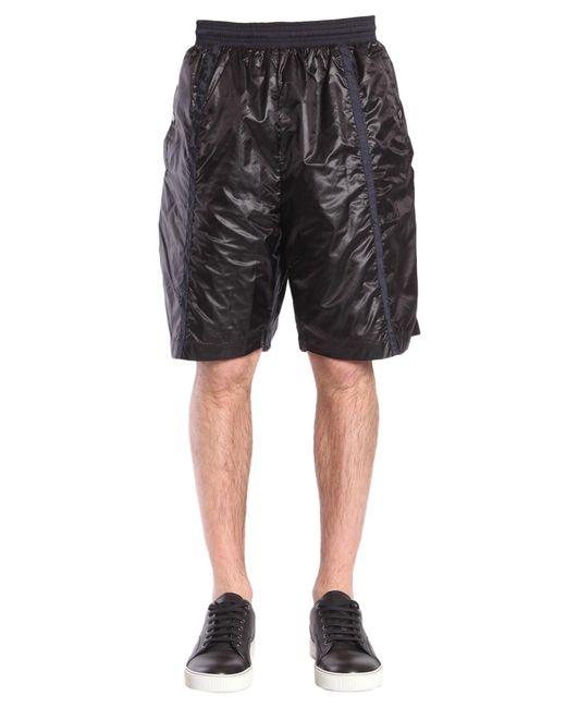 Diesel Black Gold - Black Pantastic Nylon Shorts Nylon With Contrast Details for Men - Lyst