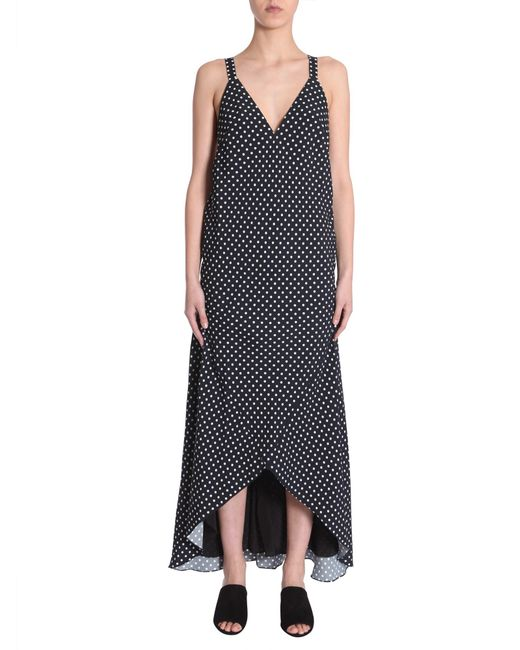 wholesale dealer fbd74 c896c Women's Black Abito Lungo A Pois