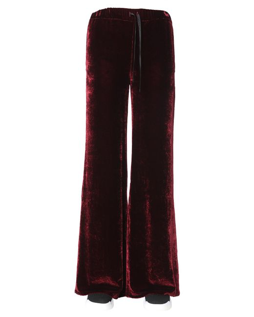 Unravel - Red Wide Pants In Velvet - Lyst