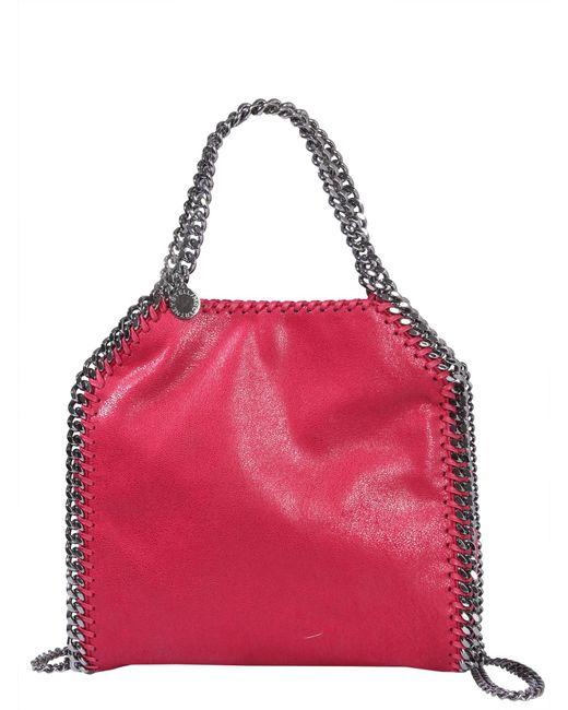 e0f3c8587050 Stella McCartney - Pink Borsa Tote Mini Falabella In SHAGGY Deer - Lyst ...